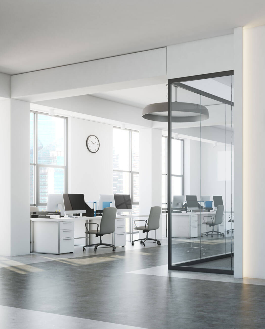 Workplace with four systems